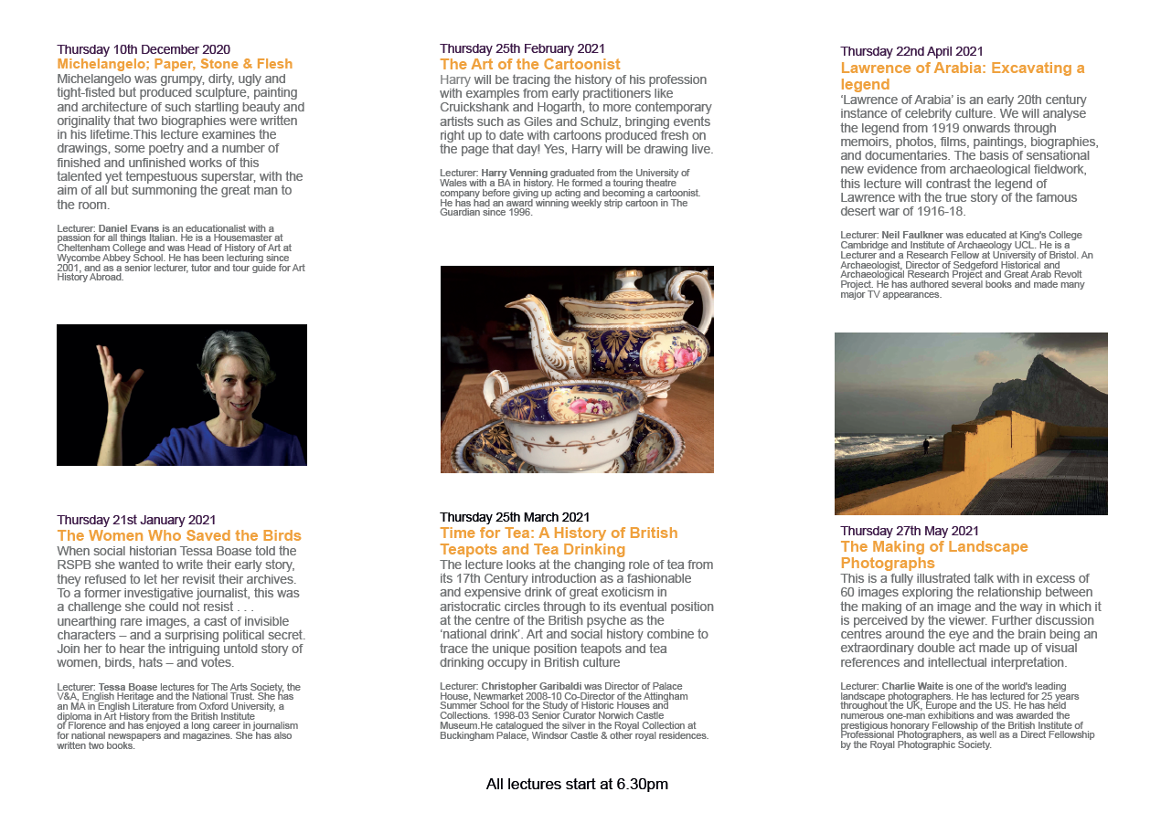 2020-21 Lecture Programme